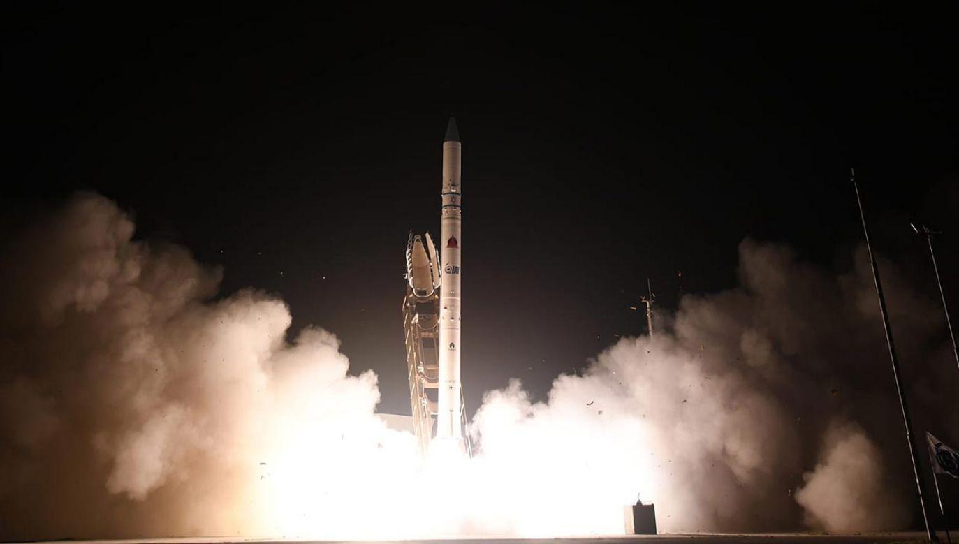 Izraelskie ministerstwo obrony ogłosiło w poniedziałek wystrzelenie nowego satelity szpiegowskiego Ofek 16 (fot. Twitter/MoDIsrael)