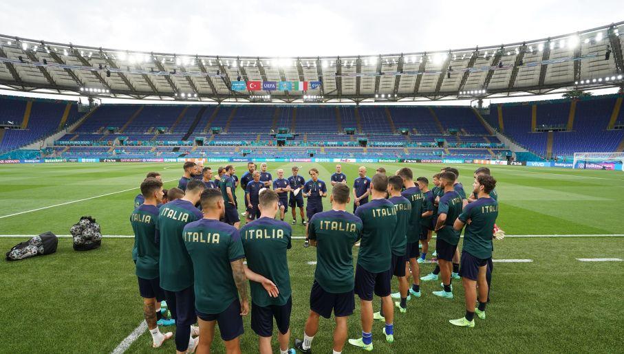 Trening reprezentacji Włoch przed meczem otwarcia