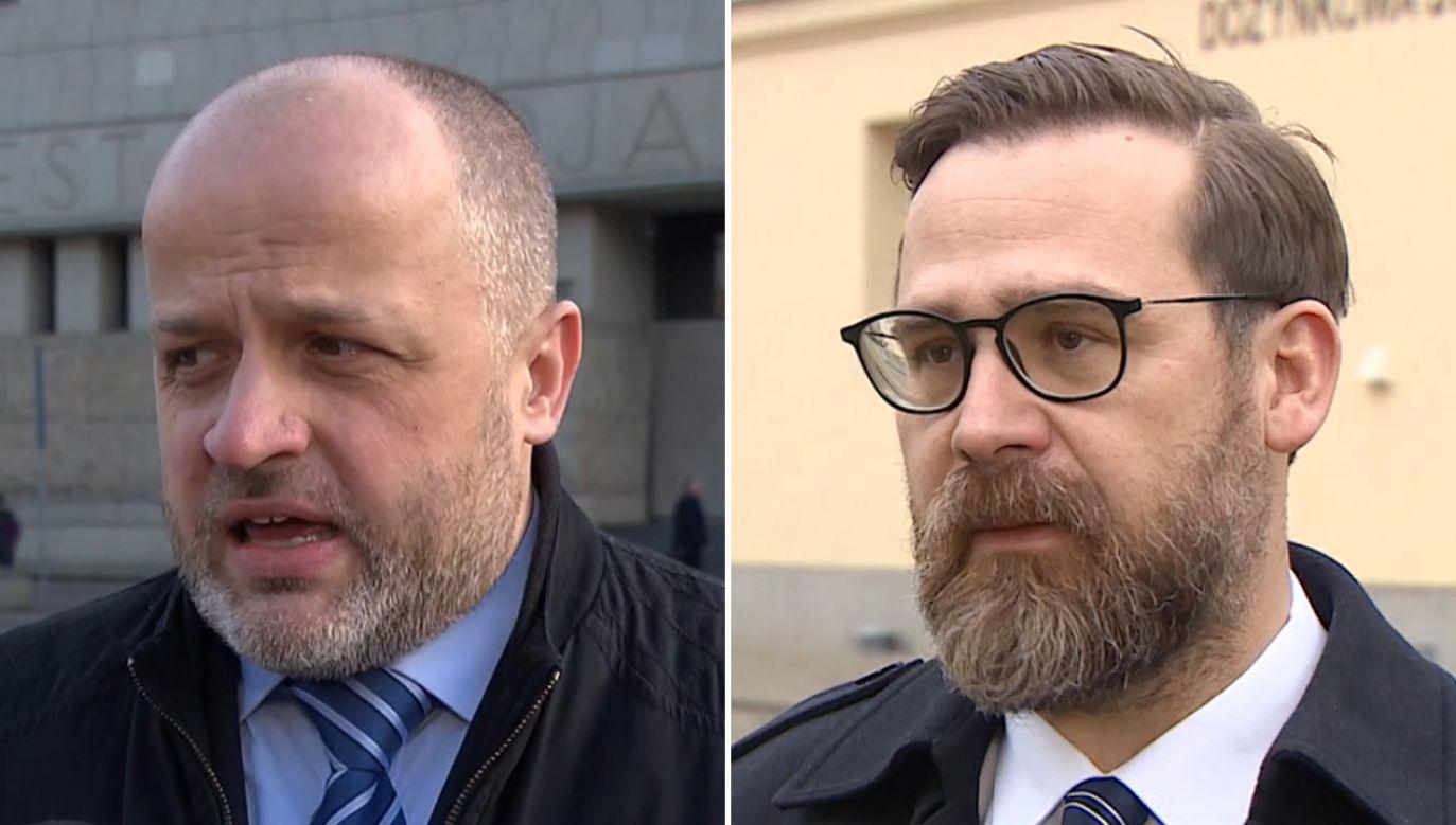 Piotr Gąciarek i Bartłomiej Przymusiński (fot. TVN24)