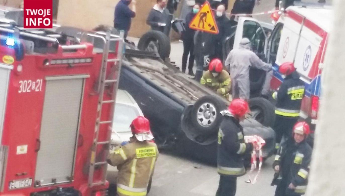 Do wypadku doszło na skrzyżowaniu ulic Jaracza i Kilińskiego (fot. Twoje Info)
