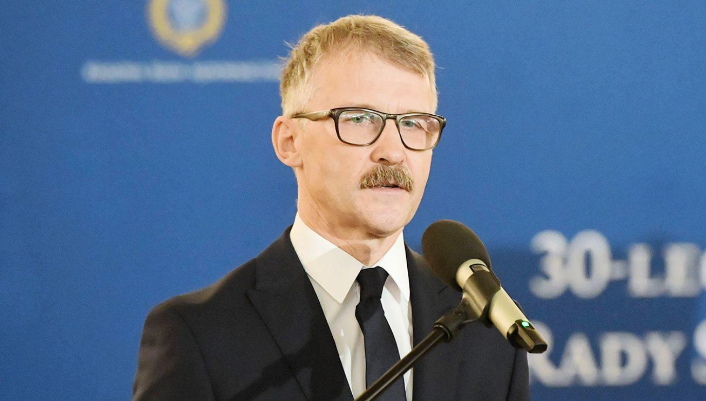 Sędzia Leszek Mazur jest przewodniczącym KRS od kwietnia 2018 roku (fot. PAP/Radek Pietruszka)
