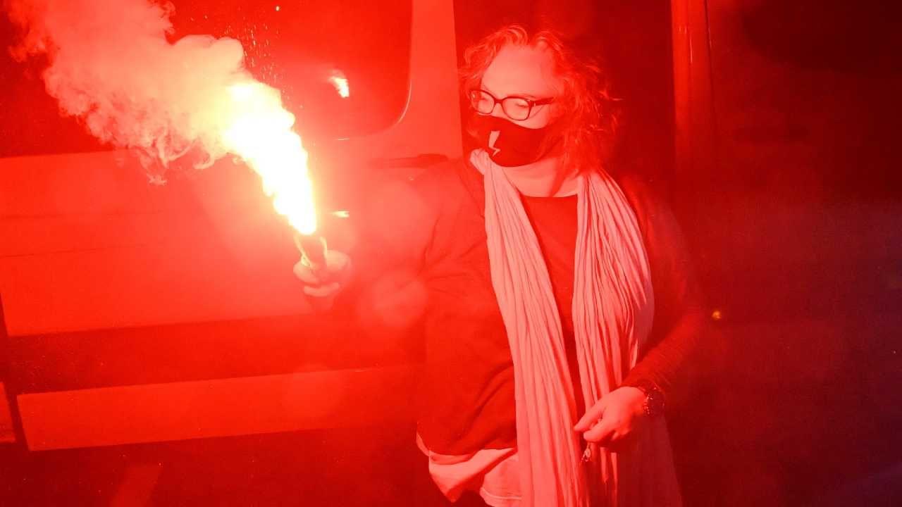 """Marta Lempart jest jedną z liderek organizacji """"Strajk Kobiet"""" (fot. PAP/Radek Pietruszka)"""
