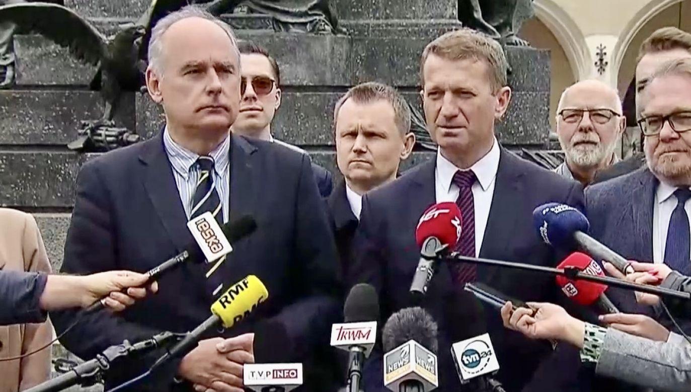 Konferencja posłów PO (fot. TVP Info)