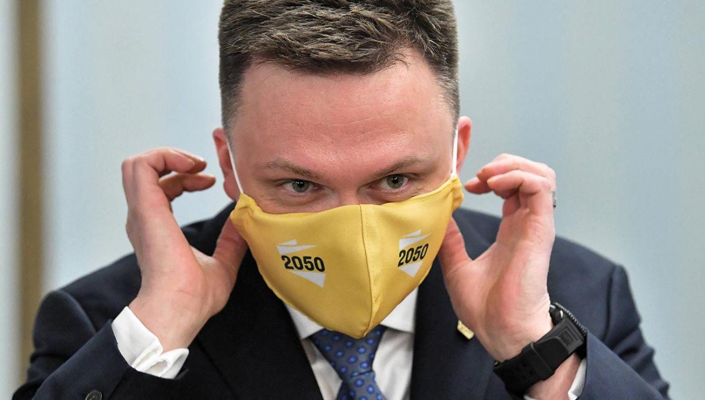 Lider Polski 2050 Szymon Hołownia (fot. PAP/Radek Pietruszka)