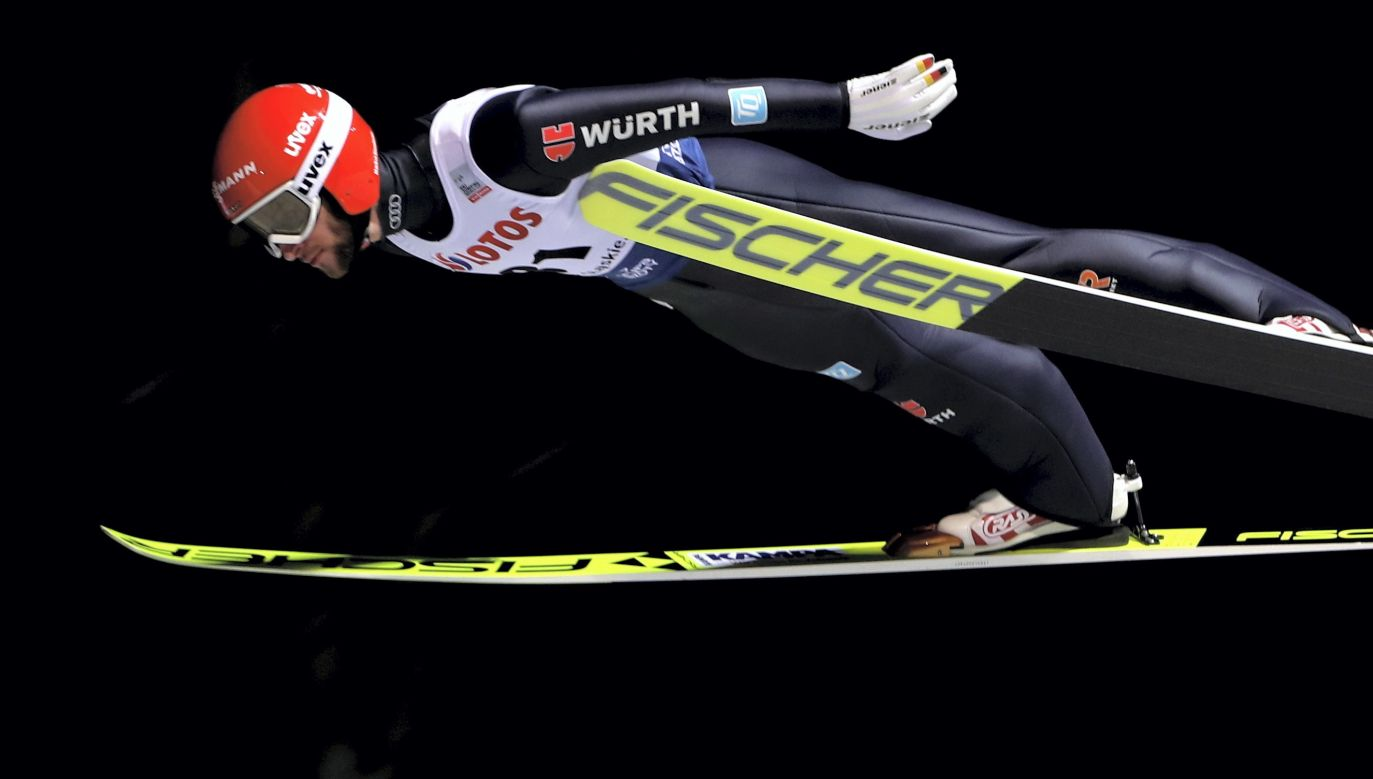 Germany's Markus Eisenbichler, the winner of the competition in Wisła. Photo: PAP/Grzegorz Momot