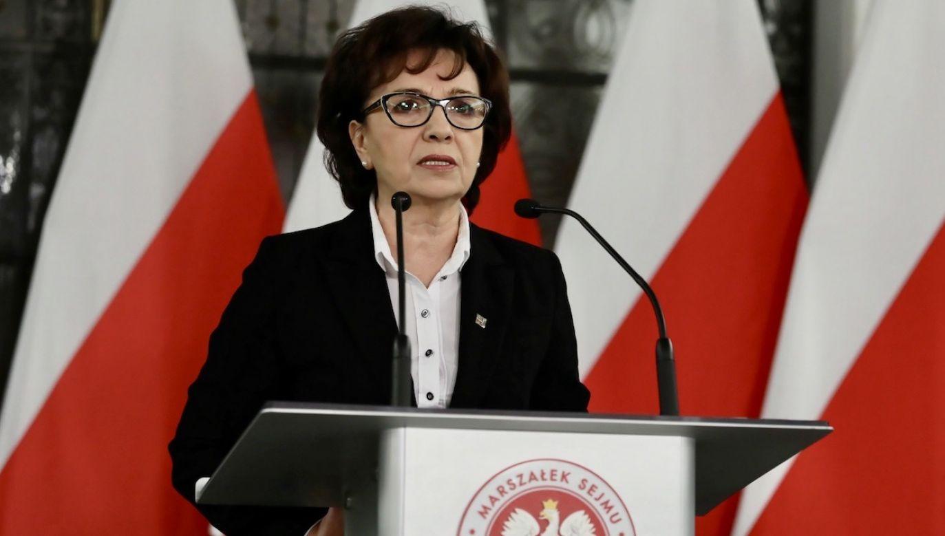"""""""Absurdem i kompletnym złamaniem konstytucji"""" nazwała marszałek Sejmu ostatnie działania opozycji (fot. PAP/Tomasz Gzell)"""