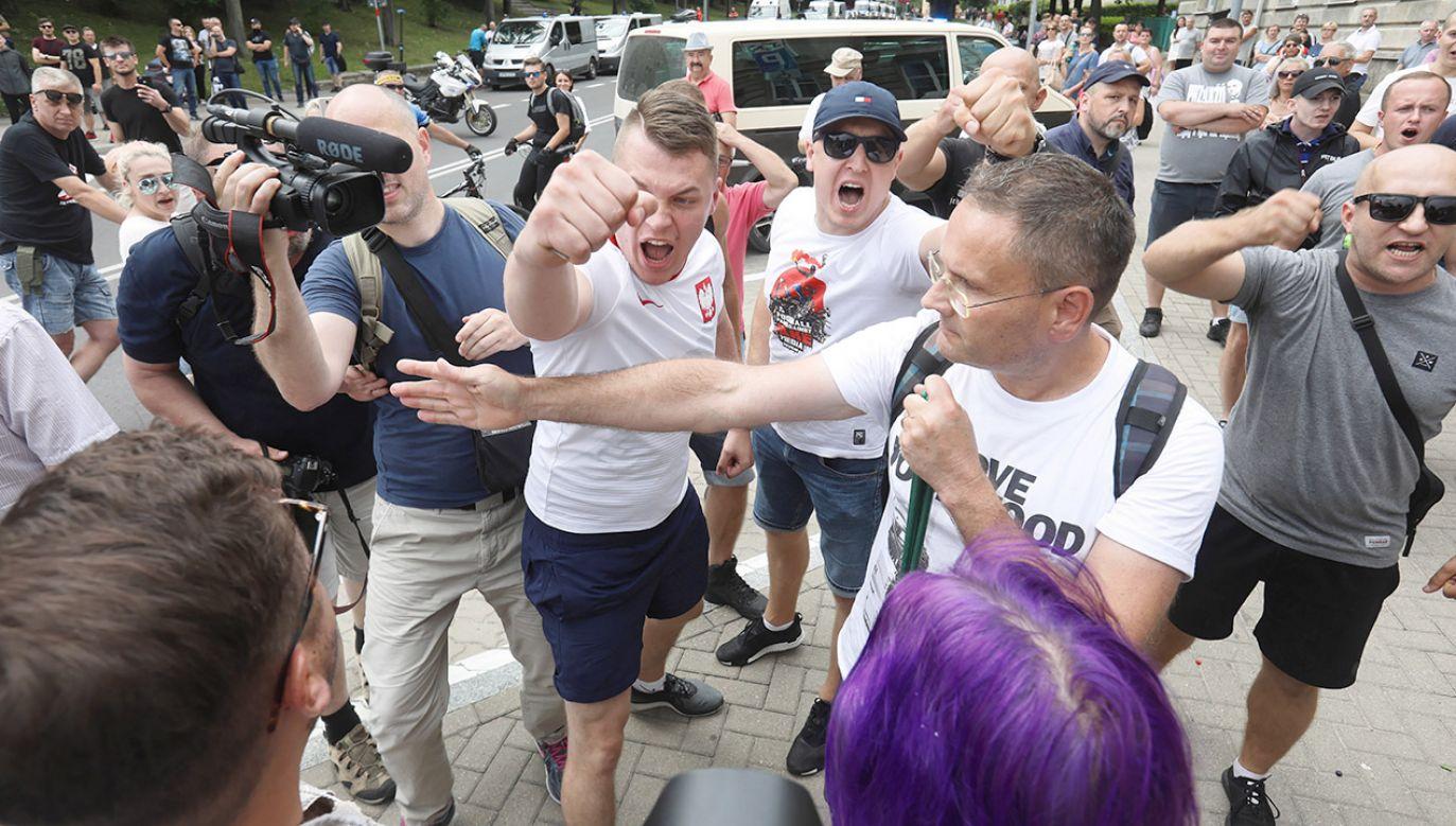 Pierwszy Marsz Równości przeszedł w sobotę ulicami Białegostoku (fot. PAP/Artur Reszko)