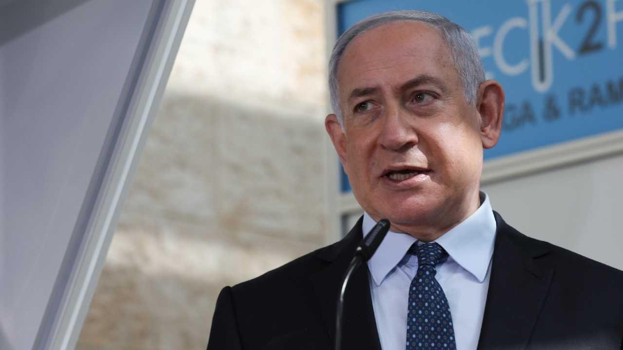 Premier Izraela Benjamin Netanjahu (fot. PAP/EPA/OHAD ZWIGENBERG / POOL)