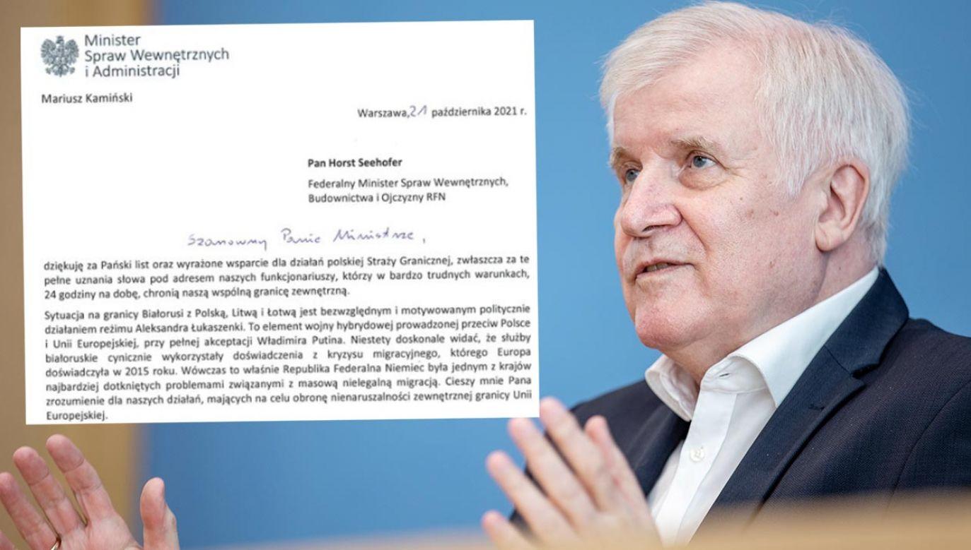 Horst Seehofer kilka dni temu w liście do Kamińskiego dziękował za pomoc (fot. Andreas Gora-Pool/Getty Images)