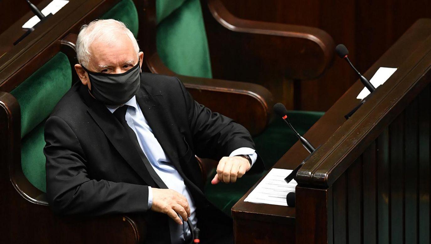 Jarosław Kaczyński (fot. PAP/Radek Pietruszka)