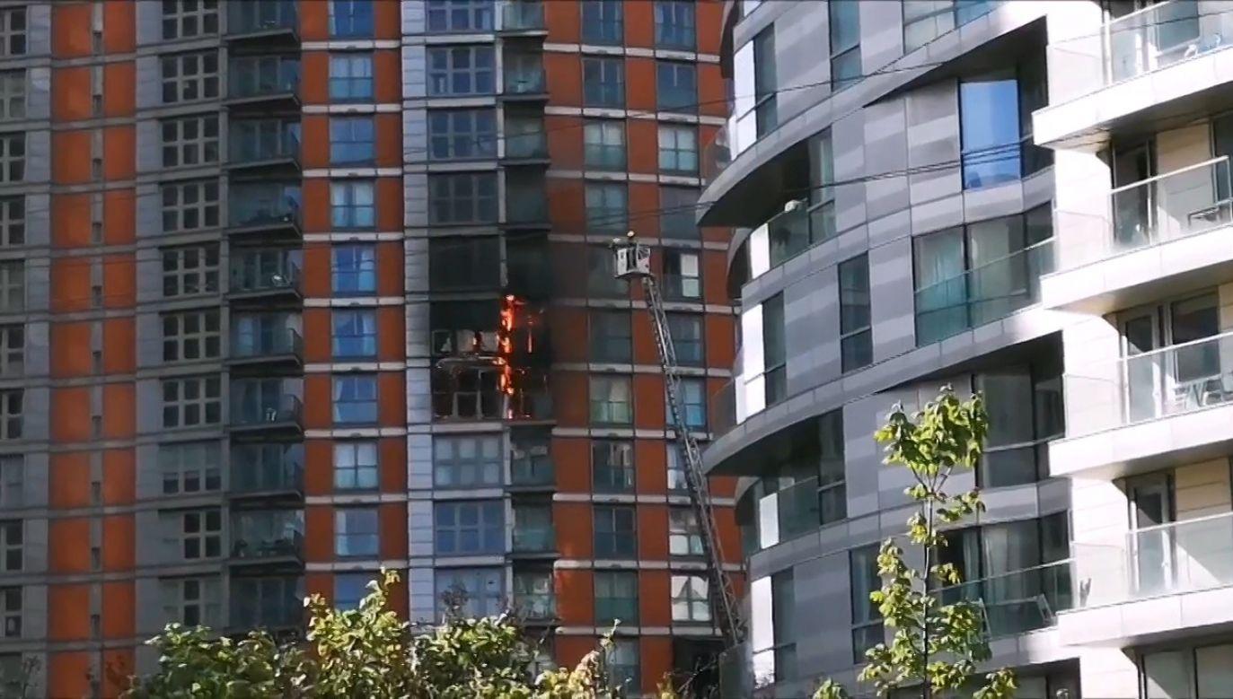 Pożar budynku w Londynie (fot. EBU/Plamena Koeva)