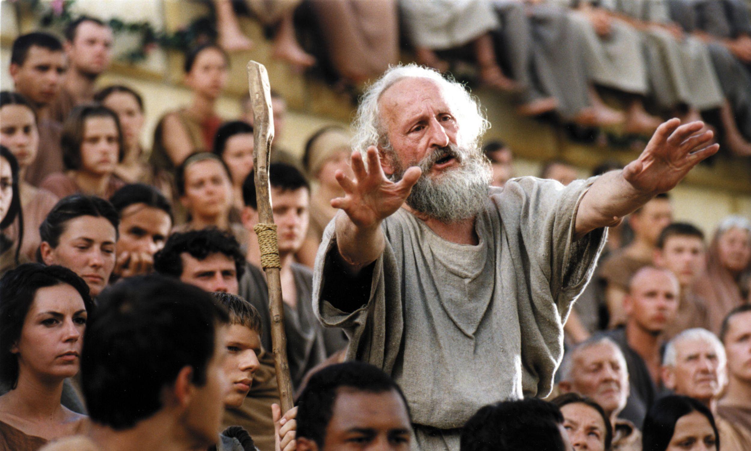 """Franciszek Pieczka w serialu """"Quo Vadis"""", reż. Jerzy Kawalerowicz, 2002 r. Fot.  arch"""