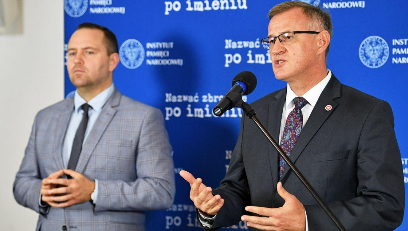 Karol Nawrocki i Andrzej Pozorski (fot. PAP/R.Pietruszka)