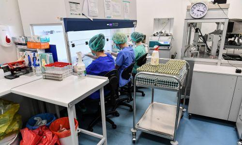 Labolatorium w Lublinie, które zgłosziło do Urzędu Rejestracji Produktów Leczniczych, Wyrobów Medycznych i Produktów Biobójczych testy przesiewowe do szybkiego wykrywania koronawirusa, 3 marca 2020 r. Fot. PAP/Wojtek Jargiło