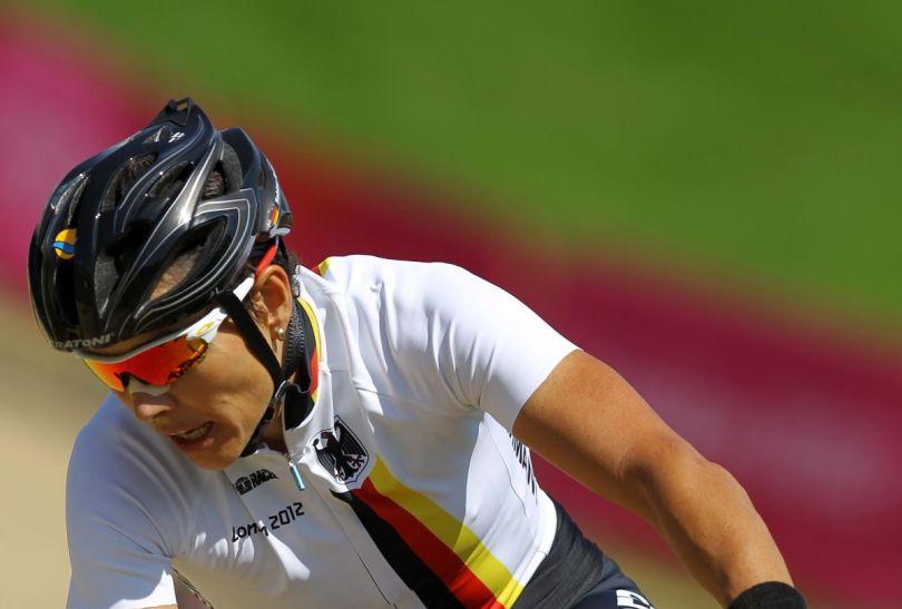 Sabine Spitz sięgnęła po srebro w cross country (fot.PAP)