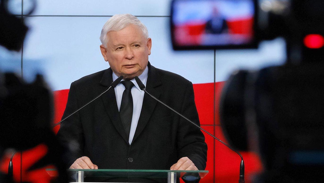 Jarosław Kaczyński trafił na kwarantannę (fot. PAP/Mateusz Marek)