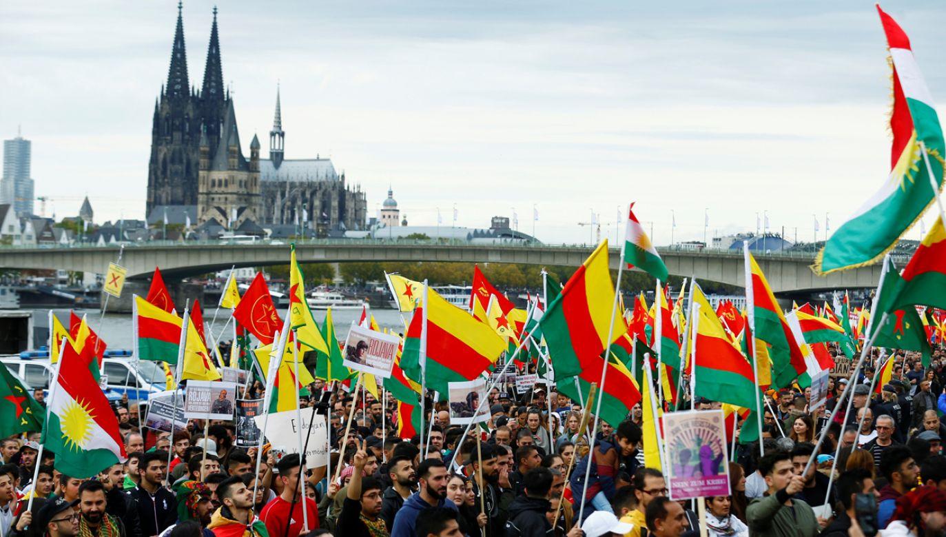 Organizatorzy obawiali się prowokacji tureckich nacjonalistów, ale demonstracje przebiegła spokojnie (fot. Reuters/Thilo Schmuelgen)