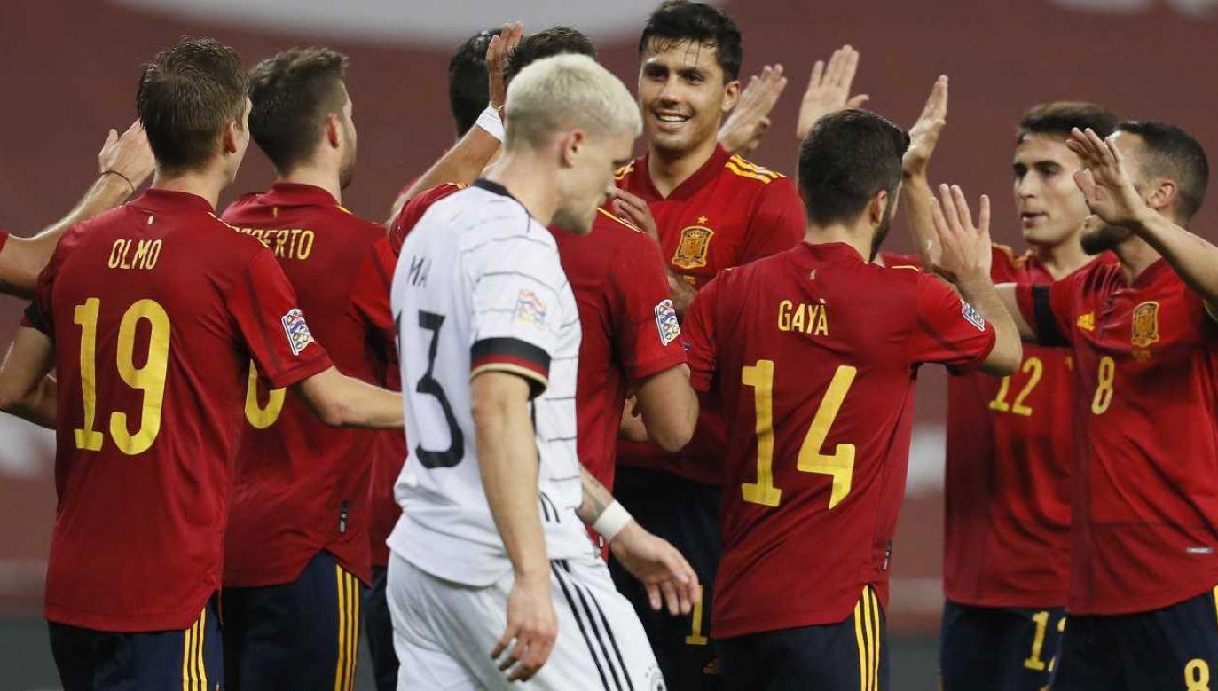 Hiszpanie wbili Niemcom aż 6 goli (fot. PAP/EPA/Jose Manuel Vidal)