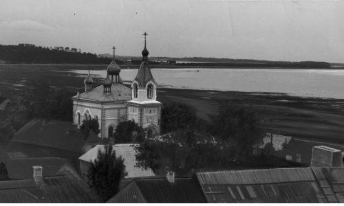 Widok na część Brasławia położoną nad jeziorem Drywiaty. Fot. NAC/IKC, sygn. 1-U-257