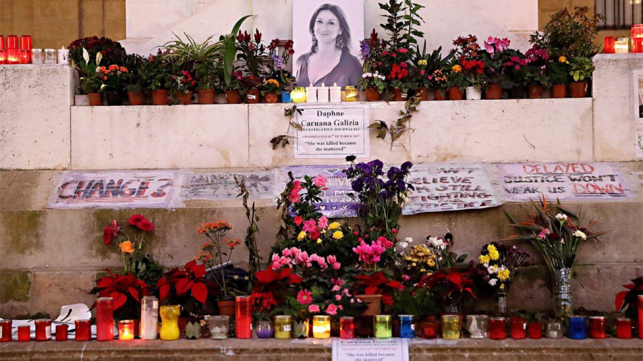 Daphne Caruana Galizia zginęła w zamachu bombowym (fot. PAP/EPA/DOMENIC AQUILINA)