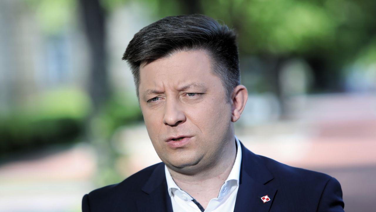 Szef KPRM Michał Dworczyk (fot. PAP/Wojciech Olkuśnik)