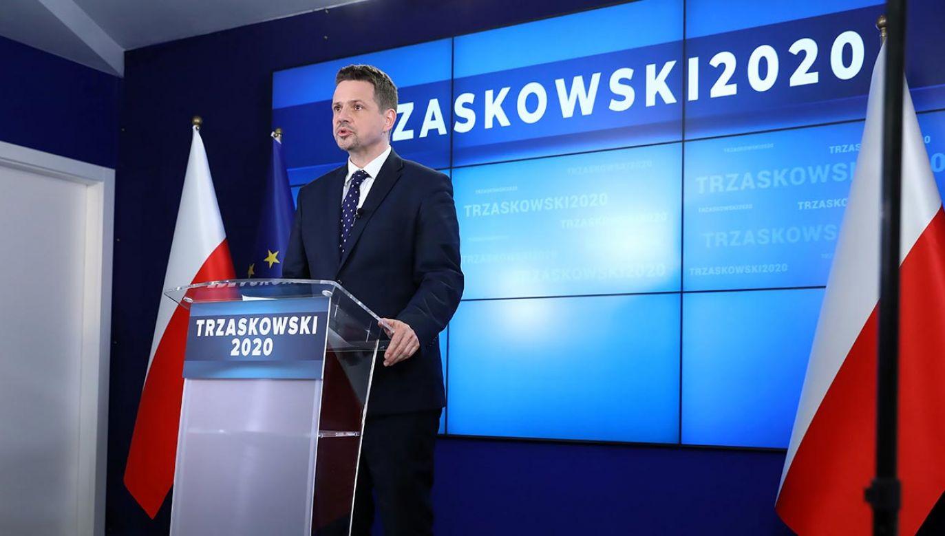 Rafał Trzaskowski oficjalnie nie rozpoczął jeszcze kampanii (fot. PAP/Rafał Guz)