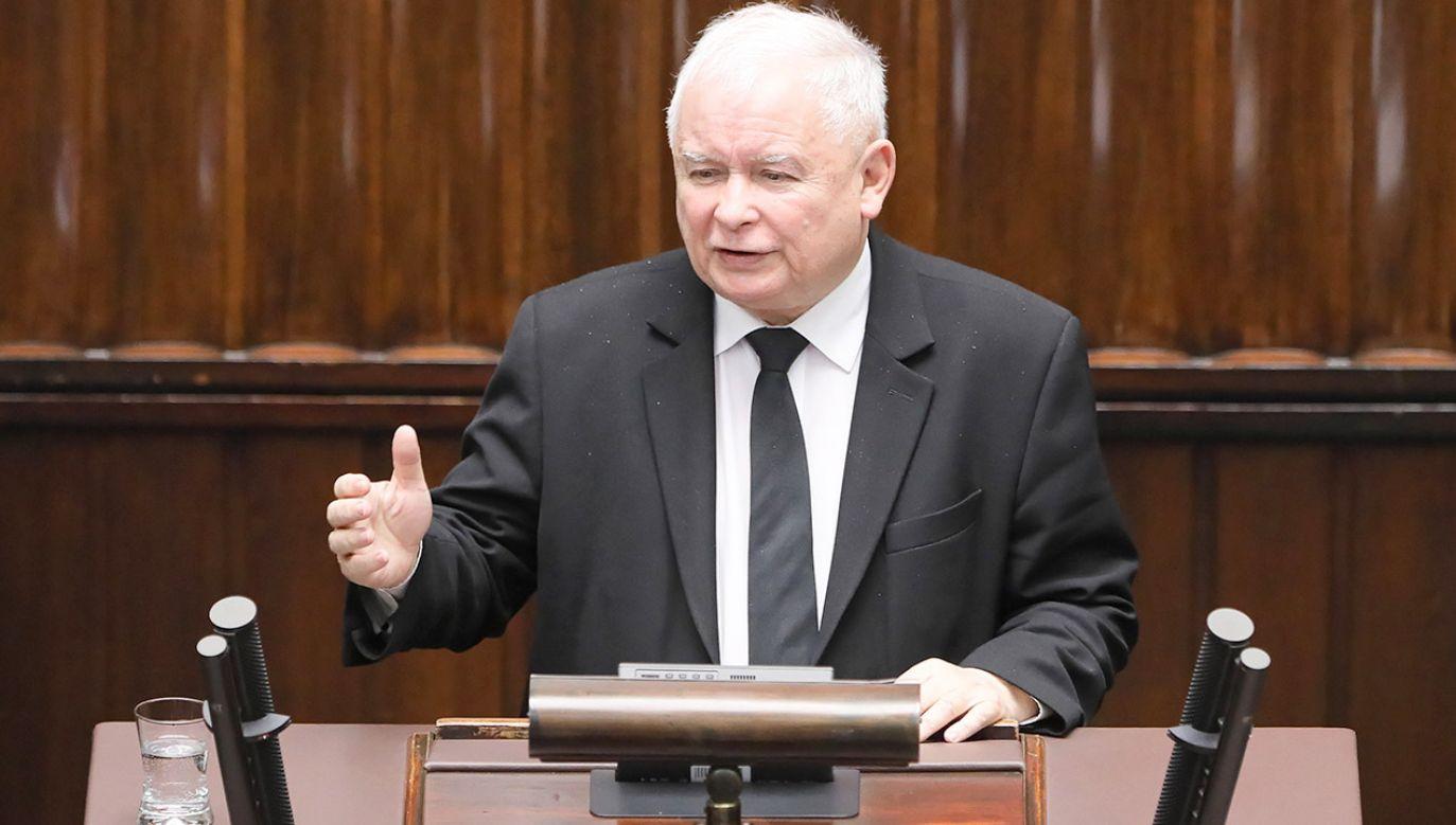 Kaczyński wskazał m.in. na wzmacnianie polskich sił zbrojnych (fot. PAP/Paweł Supernak)