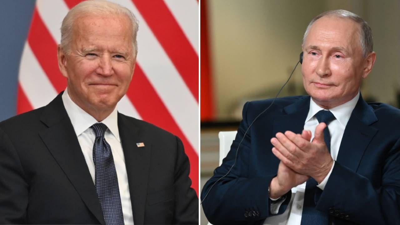 Joe Biden i Władimir Putin (fot. PAP/EPA/FABRICE COFFRINI / POOL/MAXIM BLINOV/SPUTNIK/KREMLIN POOL / POOL)