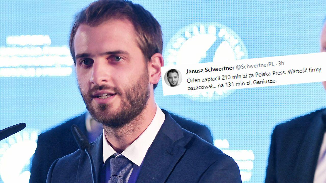 Janusz Schwertner z Onetu zaliczył wpadkę (fot. PAP/Bartłomiej Zborowski; TT)