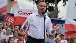 Prezydent podkreślił, że zamierza chronić polską rodzinę (fot. PAP/Marcin Bielecki)