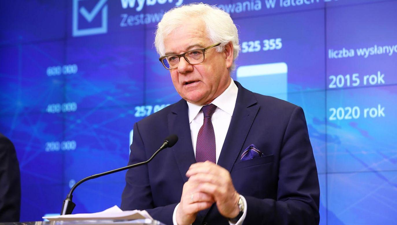 """""""Liczymy na dialog m.in. w polityce historycznej"""" (fot. PAP/Rafał Guz)"""