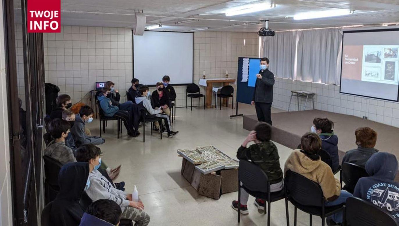 Rekolekcje w szkole Colegio Cumbres w Santiago de Chile (fot. Twoje Info)
