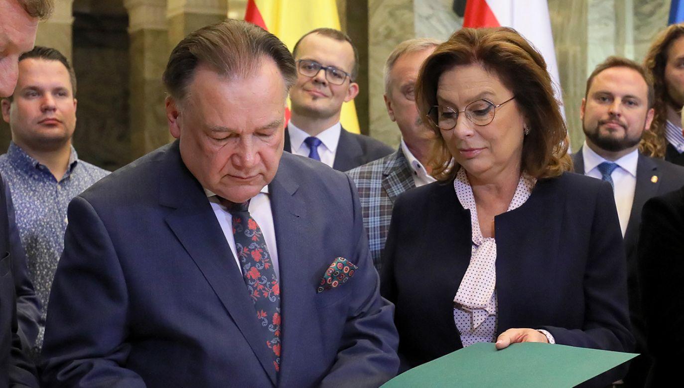 Adam Struzik i Małgorzata Kidawa-Błońska (fot. arch. PAP/Paweł Supernak)