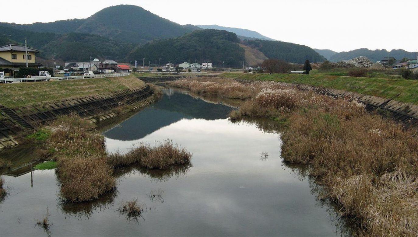Silny prąd rzeki Hiromi zniósł 33-letniego mężczyznę (fot. Wiki 3.0/著者情報を閲覧)