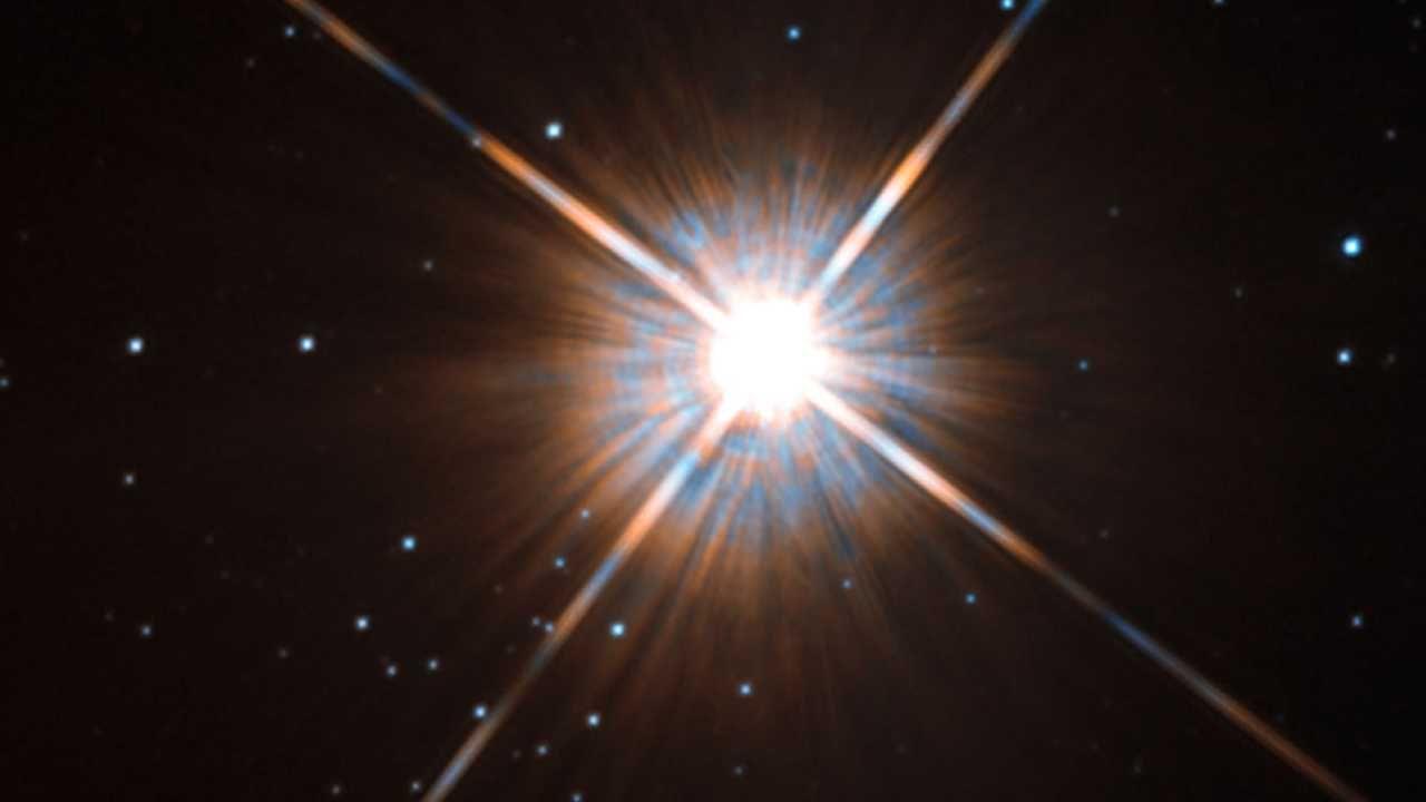 Proxima Centauri znajduje się około 4,24 lat świetlnych od Ziemi (fot. ESA)