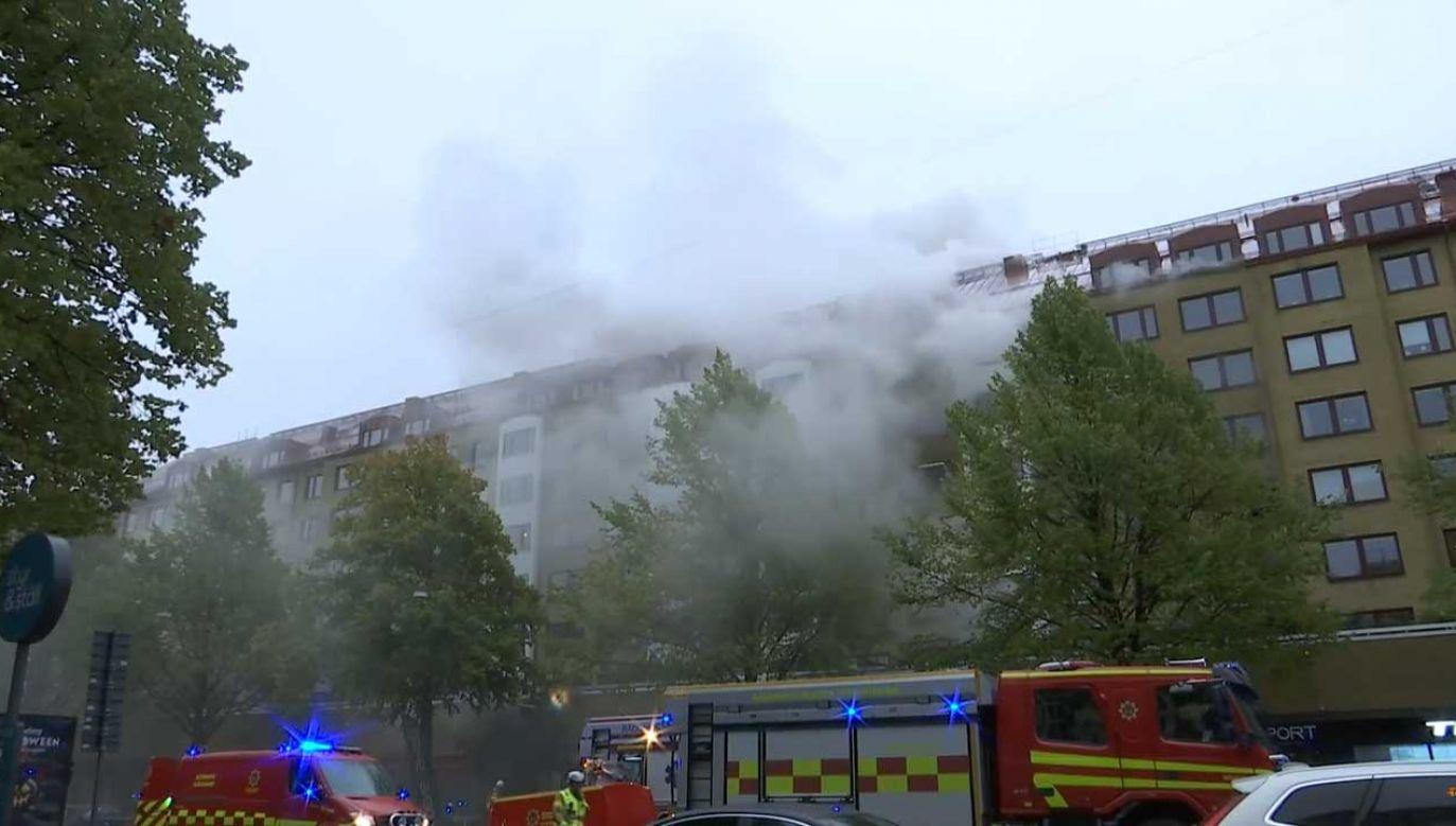 Na miejsu trwa intensywna akcja ratunkowa (fot. YT/ Expressen)