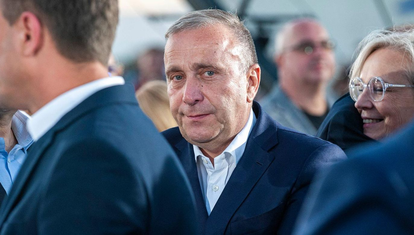 Były przewodniczący PO Grzegorz Schetyna (fot.Forum/GRZEGORZ KRZYZEWSKI)