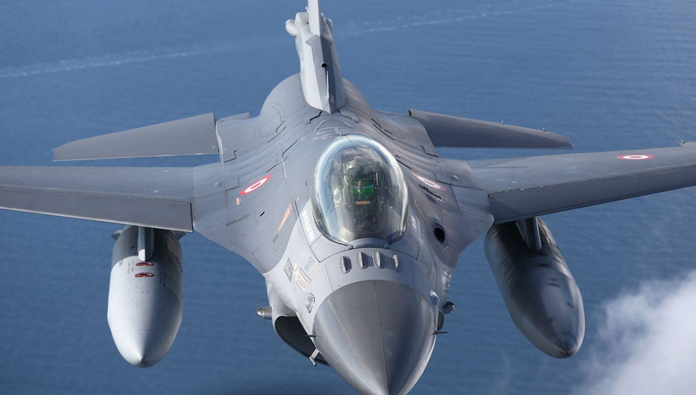 Łącznie w jednostce stacjonowały cztery myśliwce F16  (fot. Cuneyt Karadag/Anadolu Agency via Getty Images)