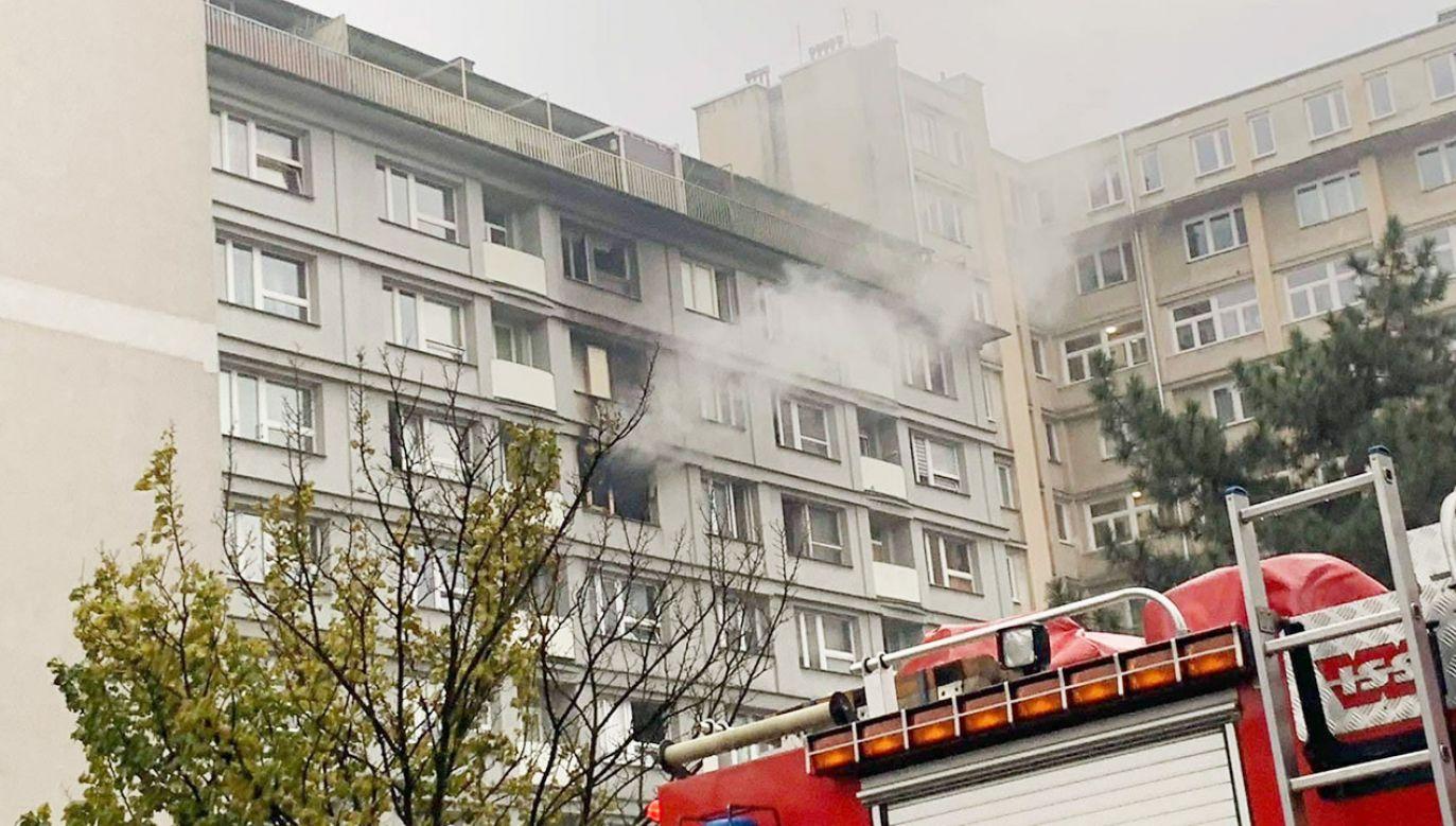 Przyczyny pożaru nie są jeszcze znane (fot. Komenda Miejska PSP m.st. Warszawy)