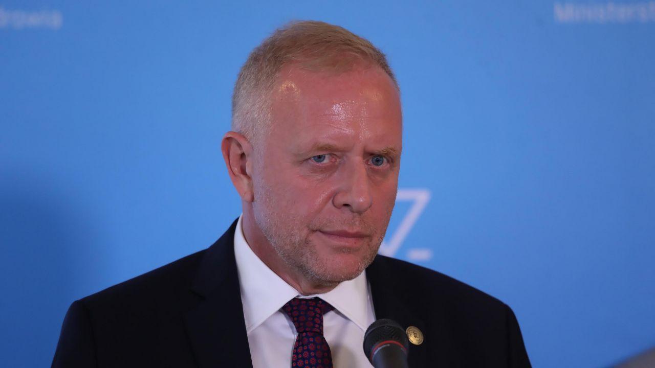 Prezes WLR Michał Sutkowski o obowiązku szczepień (fot. PAP/Tomasz Gzell)