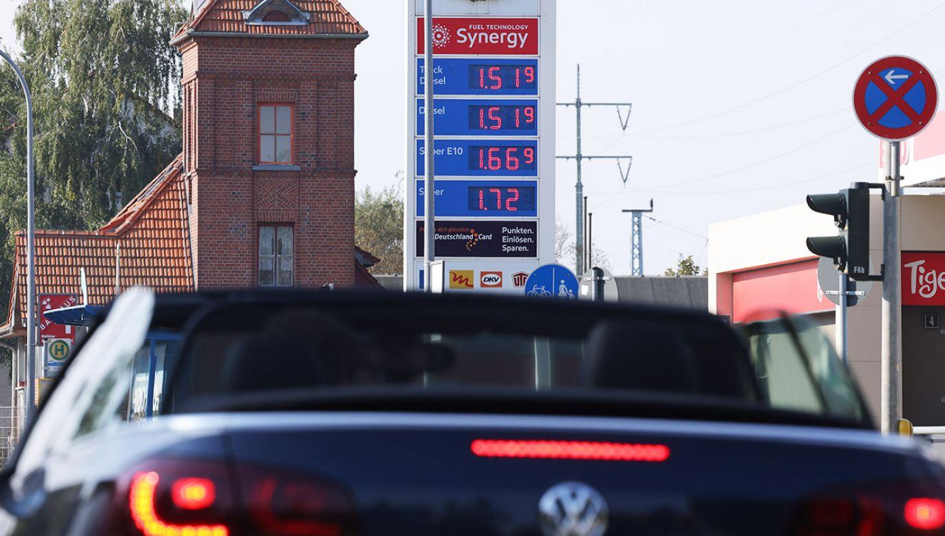 Ceny paliw w Niemczech wciąż rosną (fot. Sean Gallup/Getty Images)