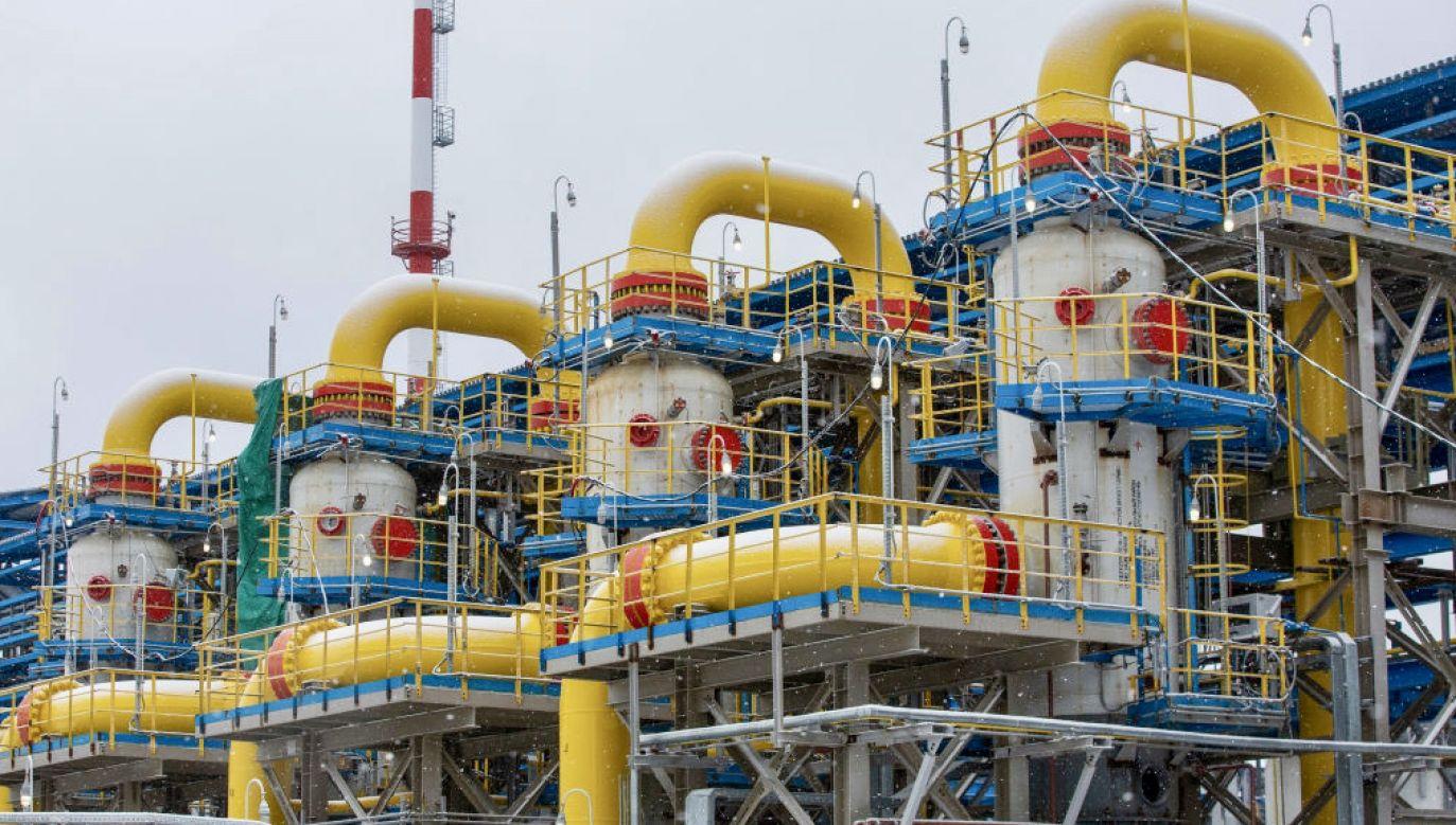 Separatory filtrujące na tłoczni gazu Gazprom PJSC Slavyanskaya (fot. A.Rudakov/Bloomberg/Getty Images)