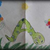 Taką Anakondę narysował Adaś Obara, 4 lata