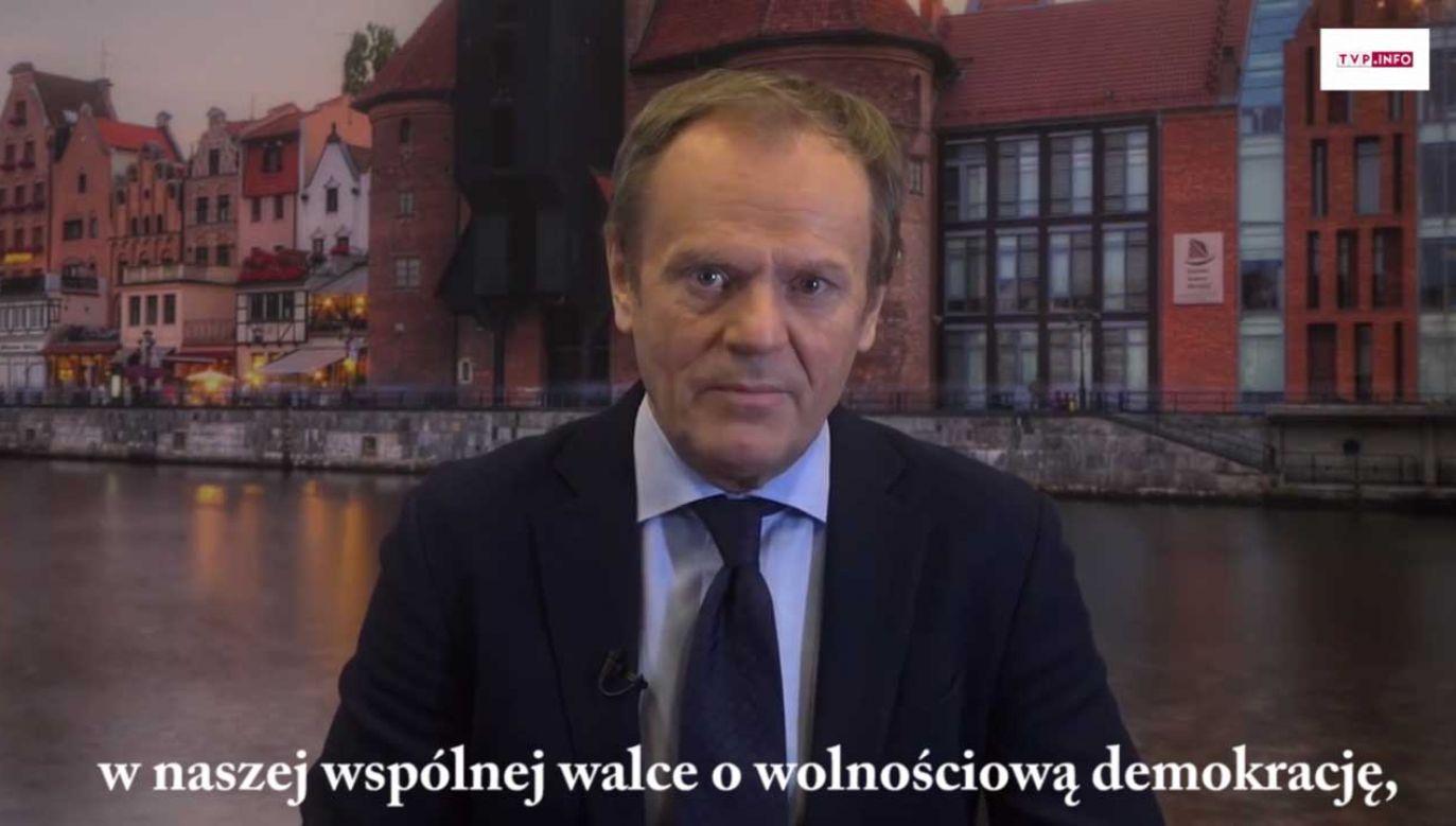 Tusk podziękował CDU za postawę w czasie pandemii koronawirusa (fot. portal tvp.info)