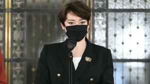 Anna Maria Żukowska poinformowała o wyniku badania (fot. PAP/Marcin Obara)