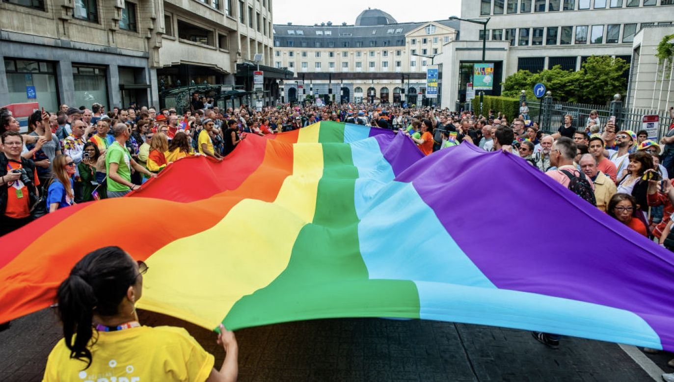 Adam Andruszkiewicz krytycznie ocenia projekt rezolucji PE (fot. Ana Fernandez/SOPA Images/LightRocket via Getty Images)