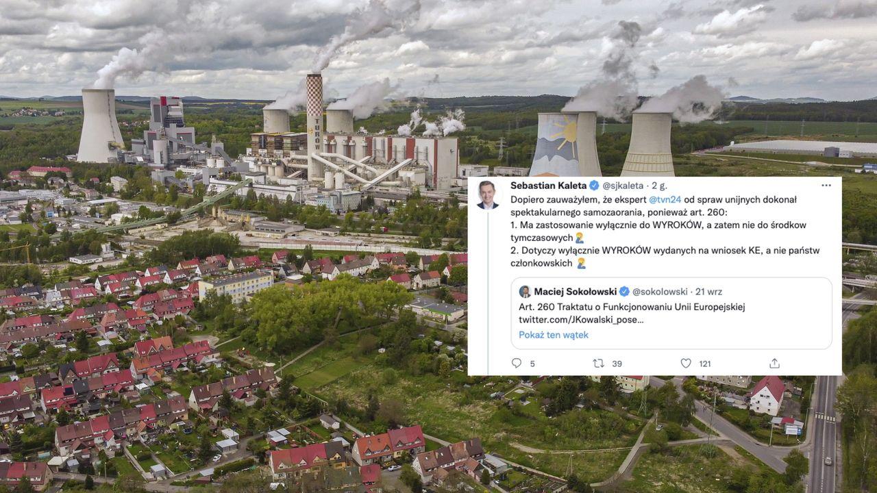 Widok z drona na Kopalnię Węgla Brunatnego Turów w Bogatyni (fot. PAP/Aleksander Koźmiński)