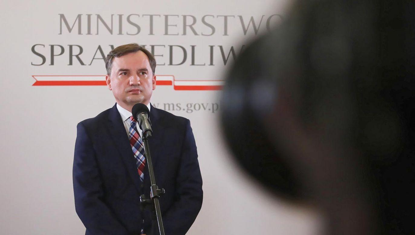 Prokurator Generalny Zbigniew Ziobro (fot. PAP/Wojciech Olkuśnik)