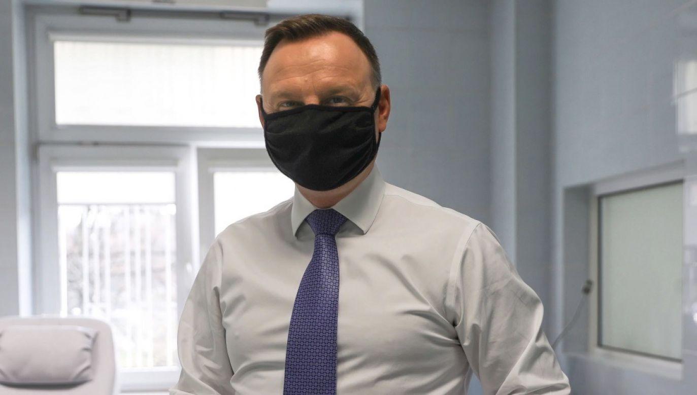 Andrzej Duda włączył się w akcje oddawania osocza (fot. PAP/Jakub Szymczuk/KPRP, zdjęcie ilustracyjne)