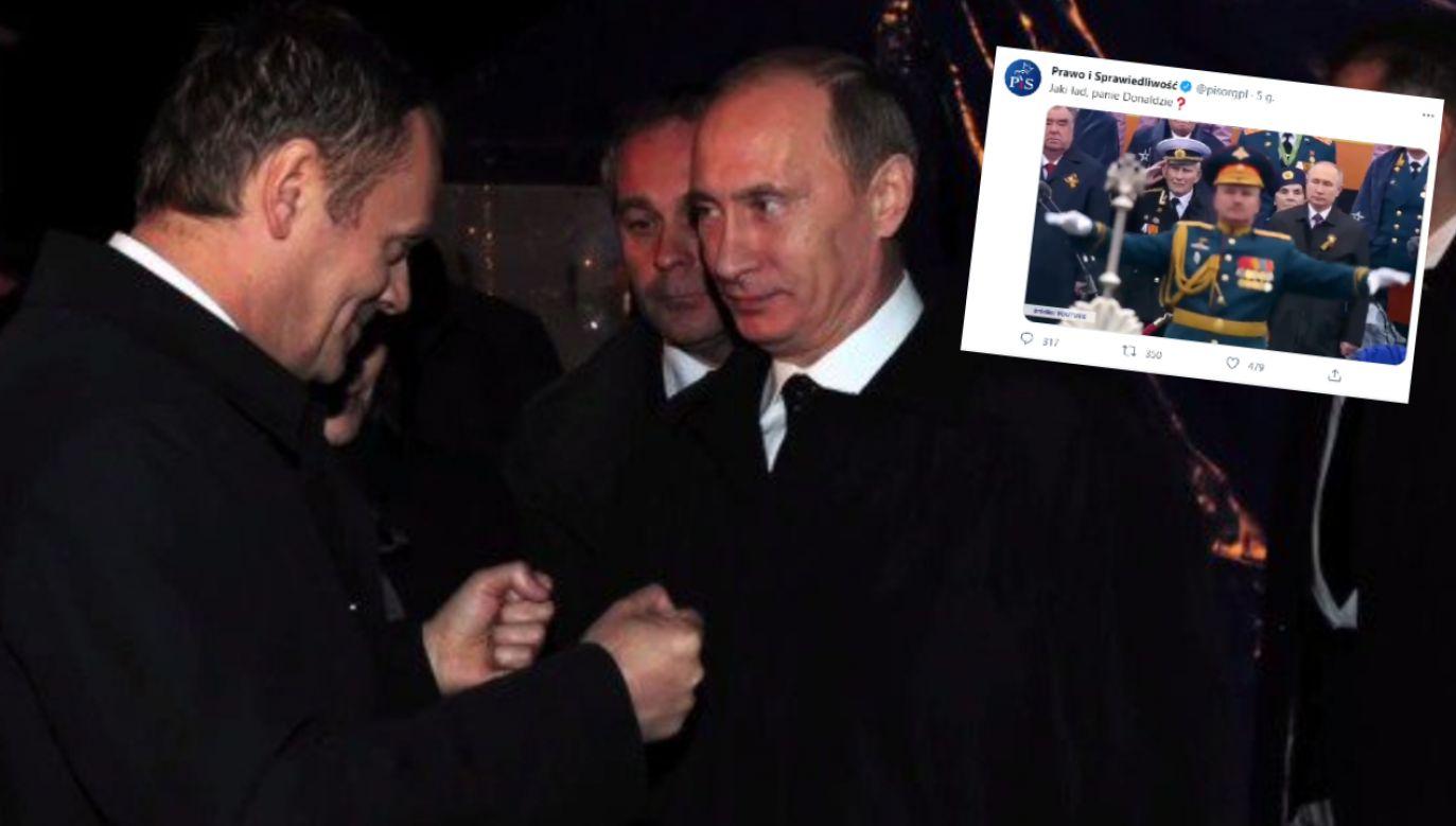 Donald Tusk i Władimir Putin (fot. KPRM; twitter.com/pisorgpl)